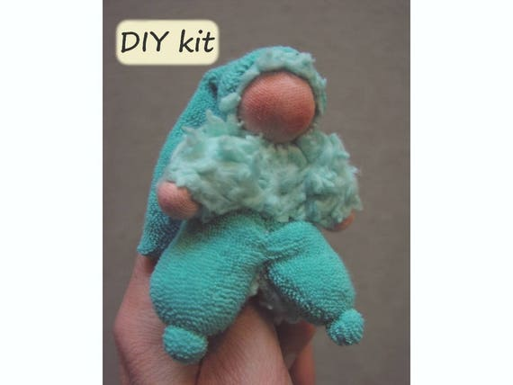 Diy do it yourself kit finger puppetdoll duimpie like this item solutioingenieria Choice Image