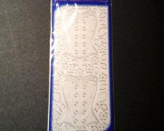 Starform sticker silver corset 3191s
