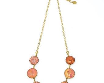 Necklace, Orange Necklace