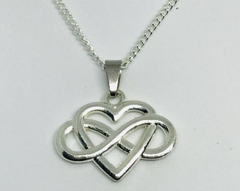 Silver Infinity Heart Necklace