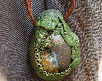 Ammonite Forest Pendant