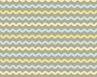 1  yard Kensington fabric by Riley Blake wavy stripe gray