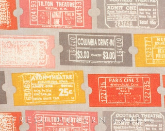 Half Yard 2wenty Thr3e Tickets in Pavement, Eric and Julie Comstock, Cosmo Cricket, Moda Fabrics, 100% Cotton Fabric, 37051 13