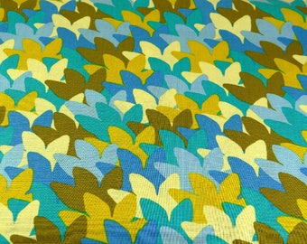 RJR Cotton Fabric Montreux by Lori Mason Blues and Golds