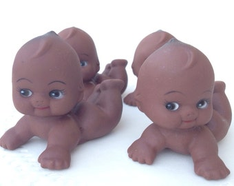 12 Medium Vintage Inspired Kewpie Baby Dolls for Gender Reveal or Baby Shower DIY Decorations, Favors, Cake Toppers, Table Decorations
