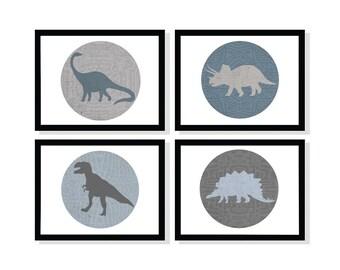 Set of 4 Dinosaurs 8x10, 11x14, 13x19
