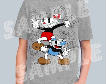 YOUTH - Cup and Mug Tee - Inspired by Cuphead