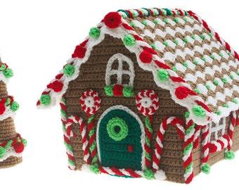 Christmas Gingerbread Cottage Crochet pdf Pattern