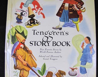 Tenggren's Story Book // A Big Golden Book // 1948 // 9 Famous Stories