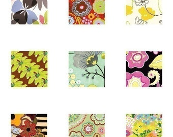 Mod Flora - (1x1) One Inch (25mm) Square Pendant Images - Digital Sheet - Buy 2 get 1 Free - Instant Download - Printable Collage Images