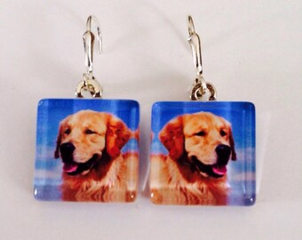 Personalized photo earrings/Custom photo earrings from your photo