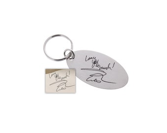 Handwriting Keychain, Memorial Gift, Gifts for Men, Custom Keychain, Handwriting Gifts, Handwriting, Gifts for him, Engraved Keychain
