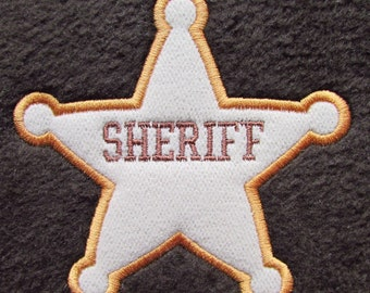 Sheriff applique Embroidery Design Instant Download