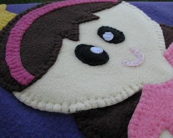 Princess Baby Blanket - Fleece Baby Blanket - Princess Blanket - Baby Girl Blanket - Baby Shower Gift - Baby Girl Shower Gift - READY SHIP