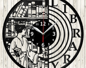 Library Vinyl Clock Handmade Art Decor Your Room Original Gift 1725