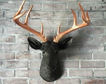 ANY COLOR XL Deer Head Wall Mount // Faux Taxidermy // Fake Animal Head // Antler // Woodland // Stag // Nursery // Rustic Wedding Decor