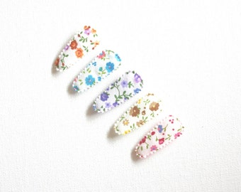 Floral Baby Hair clips, baby snap clips, snap clips, baby hair accessories, infant hair clips, toddler hair clips, toddler hair accessories
