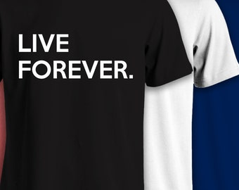 Oasis Live Forever- Music T Shirts- 523