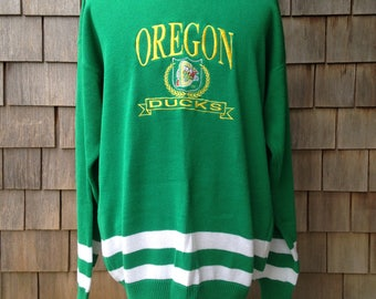 90s vintage Oregon Ducks embroidered sweater - XL tall - University - Logo 7