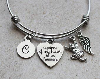 A Piece of my Heart is in Heaven Cat Memorial Bracelet, Cat Memorial Gifts, Cat Loss Gifts, Cat Loss Gift Ideas, Cat Loss, Cat Sympathy, Cat