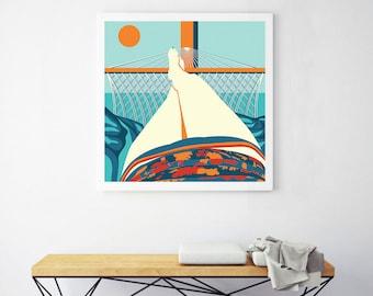 Summer Time, Digital art, illustration print.