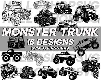 monster truck svg, truck svg, jeep, transport, vehicle, car svg, clipart, decal, stencil, vinyl, cut file, iron on, silhouette