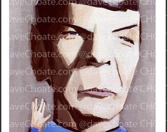 Spock, Star Trek. Art Photo Print