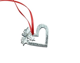 12th Anniversary Christmas Tree Ornament - Reads Our 12th Christmas Together