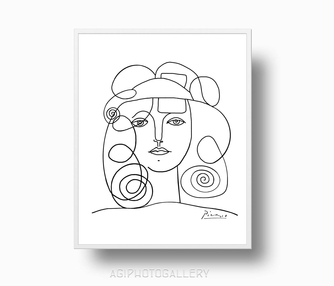 It is an image of Smart Picasso Face Drawing