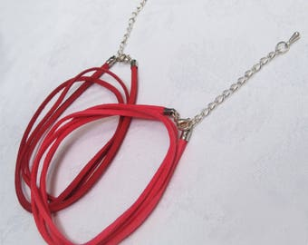 2 Double suede cord necklace