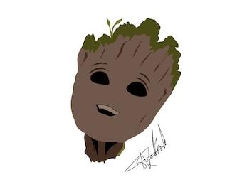 Marvels Baby Groot Graphic Design