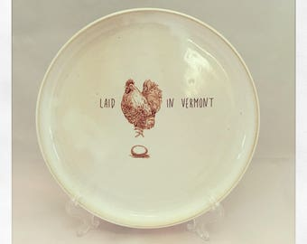 Laid In Vermont Dinner Plate