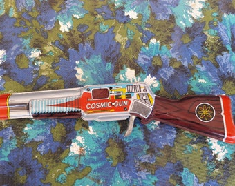 Japanese Tin Ray Gun 1960's Vintage Toy Ray Gun