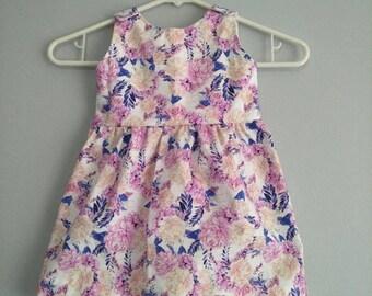 Kids clothes // girls dress// girls clothes // floral dress// spring dress// handmade //size 1