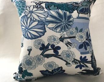 Schumacher Blue Chiang Man Pillows
