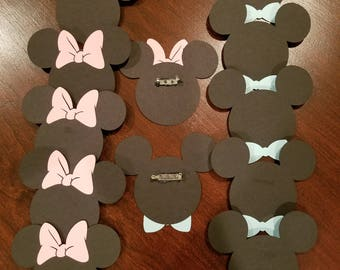 Mickey/Minnie Pink and Blue Gender Reveal Pins