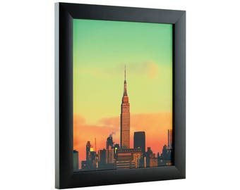 "Craig Frames, 7x9 Inch Modern Black Picture Frame, Contemporary 1"" Wide (1WB3BK0709)"