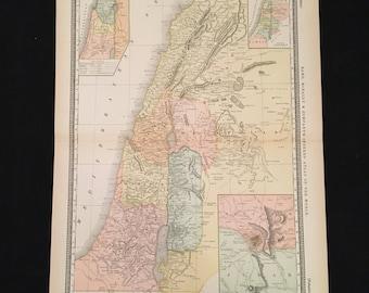 Jerusalem map Etsy