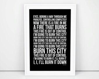 Franz Ferdinand This Fire Lyrics song print A4 A3 Size Poster Wall Artwork