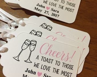 CHEERS Favor Tags,A toast to those we love the most Favor Tags,Wine Favor Tags,Champagne Favor Tags,Bridal Shower Tags,CHEERS Tags,CHEERS