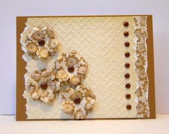 Handmade Card - Bronze Bouquet