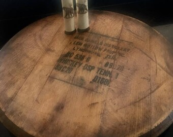 Authentic Jack Daniels Whiskey barrel head lazy susan