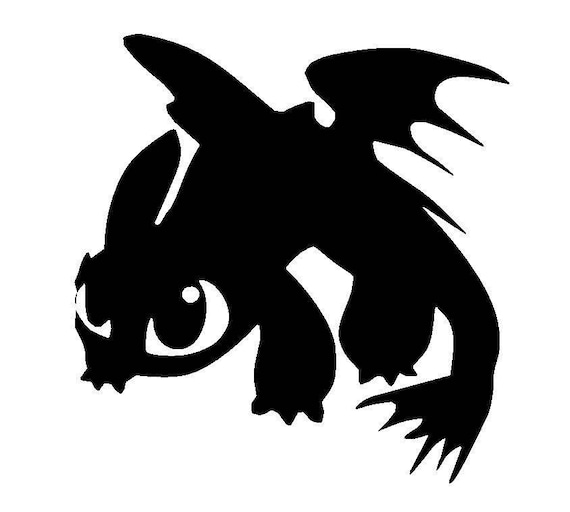 Toothless Dragon Vinyl Decal How to Train Your Dragon Yeti