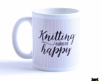 Knitting makes me happy Mug