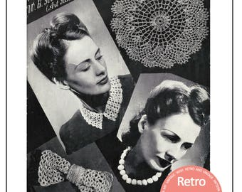 1940s Wartime Accessories to Crochet - PDF Instant Download