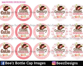 Country Cutie- INSTANT DOWNLOAD- 1 Inch Bottle Cap Images