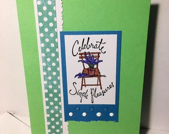 Celebrate Simple Pleasures Any Occasion Handmade Card