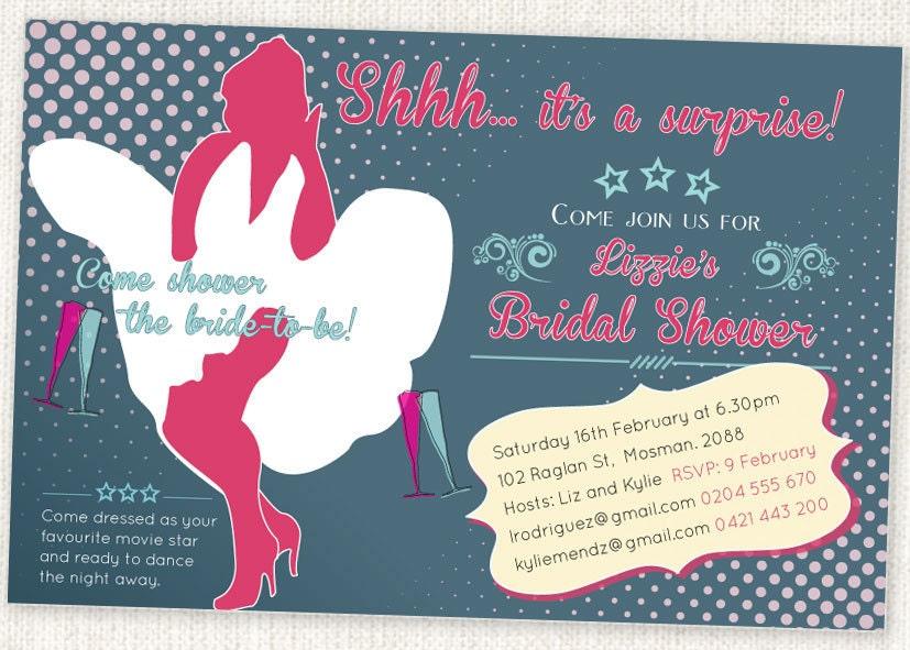 zoom - Vintage Wedding Shower Invitations