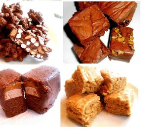 """I DON""""T CARE Package- Sampler-You Can Say You Made these Yourself-For Big Kids Far Away from Home, Chocolate,Fudge,2 Pounds +"""