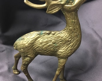 Vintage Brass Deer or Reindeer